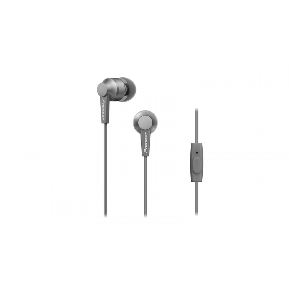 Pioneer In-Ear w/mic - Grey