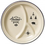Gentlemen's Hardware - Enamel Divided Plate Cream