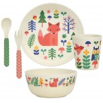 Petit Collage - Bamboo Dinnerware Set Forest