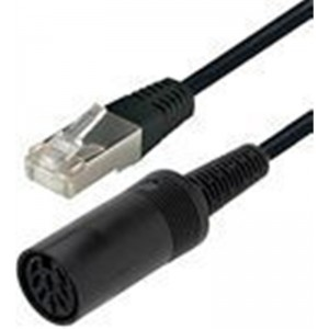 Image of   Adapter Cable 8 Pin Din F-Rj45 0.75m Black