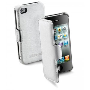 Image of   Book Case For iPhone4, White iPhone 4/4S