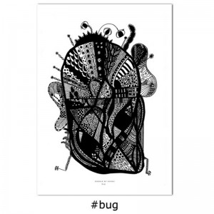 Image of Bug (insekt) 50x70 - Doodle by Schou