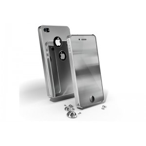 Chrome iPhone4-Grey iPhone 4/4S