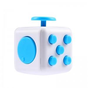 Fidget Cube. ABS Plast White/Blue