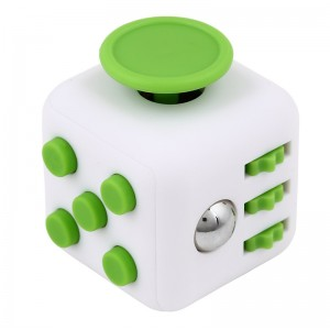 Fidget Cube. ABS Plast White/Green
