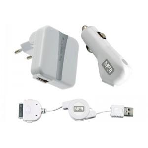 Image of   iPod Charger Kit USB,Car&230V