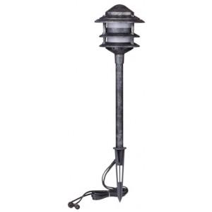 Billede af Lille retro-pole 100 lumen 1W, ældet jern, 2 stk. - Lampe