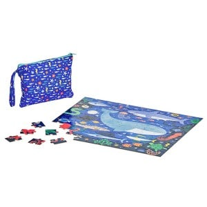 Petit Collage Double Sided On-The-Go Under The Sea tosidet Puslespil