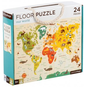 Petit Collage - Floor Puzzle Our World