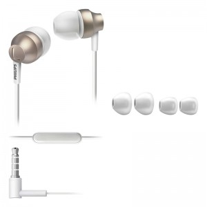 Image of   Philips in-ear headset w. Mic Gold