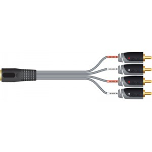 Image of   SX Plus DIN Audio Adapter 4 RCA M - 5pin DIN F 0.2m